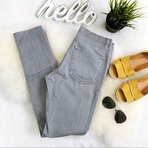 COS Light Gray high Waisted Skinny Jeans 28